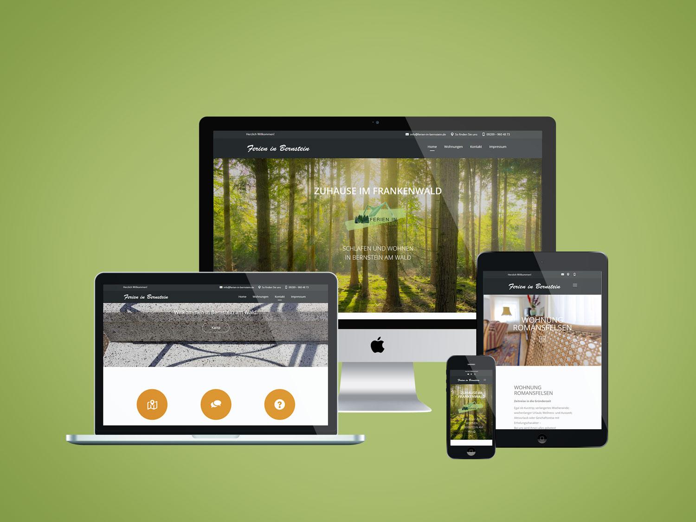 Internetauftritt Responsive Design Corporate Design Werbeauftritt