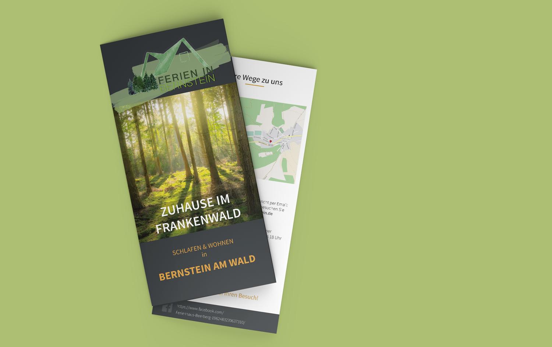 Flyer Broschüre Eyecatcher Marketing Ökologischer Fußabdruck