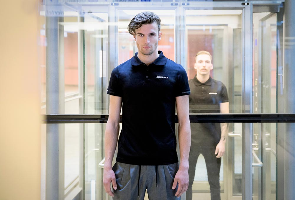 Männerkollektion Pixelbäcker Auftreten Corporate Design Logo Identifikationscharakter