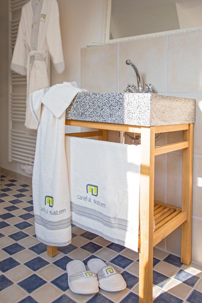 Raumausstattung Architektur Wohlfühloase Badezimmer Textilien Fotoshooting onlocation