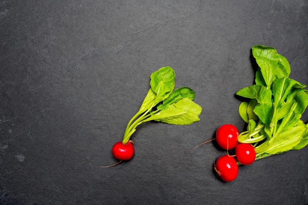 Moods Werbeagentur Foodkampange Radieschen Arbeitsplatte
